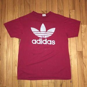 Vintage Adidas Treifol Box Logo 2 Sided T Shirt